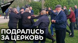 Священники и верующие подрались в Грузии: в дело вмешалась полиция