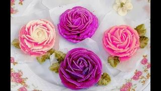 ЗАМОРОЖЕННЫЕ ЦВЕТЫ ИЗ СМЕТАНЫ!!! / FROZEN FLOWERS FROM Sour Cream