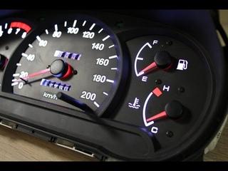 Пересвет приборной панели Hyundai Accent МКПП