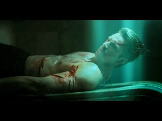 Fight, sex, slashed, virtually tortured (strangled, legs cut off, burned, heart ripped out) & stabbed scene of Kovacs