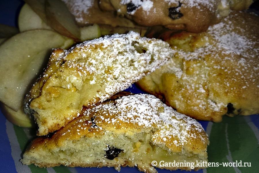 Яблочное домашнее печенье к чаю