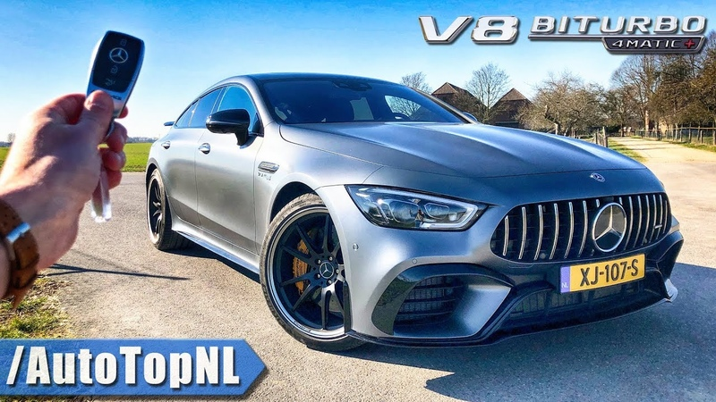 Mercedes AMG GT 63 S 4Door REVIEW POV Test Drive on AUTOBAHN ROAD by AutoTopNL