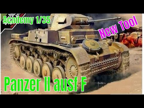 Academy models 1 35 Panzer II ausf F Africa corp New tool model kit preview