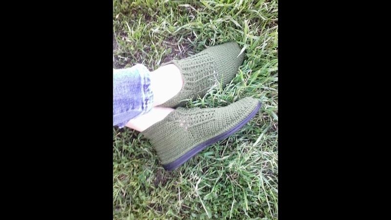 ботинки вязаные крючком