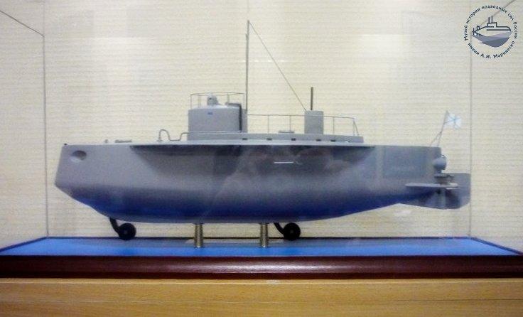 Модель подводной лодки «Осетр». Из собрания Музея истории подводных сил России им. А.И. Маринеско.