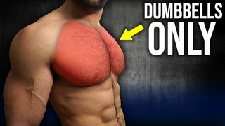 5min Home CHEST Workout (DUMBBELLS ONLY / NO BENCH!!)