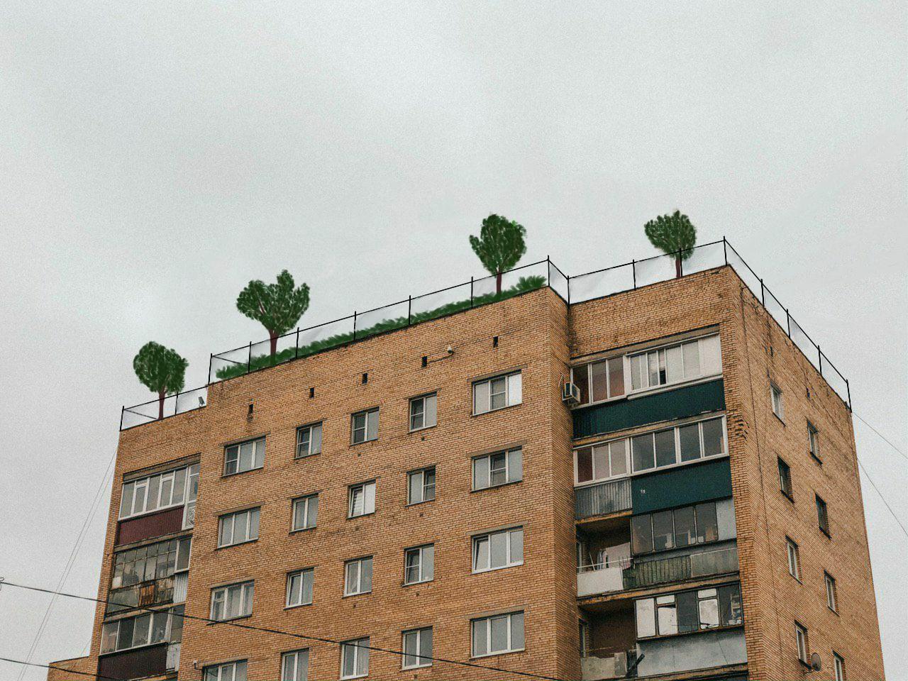 Центр компетенций предлагает разбить на крышах курских многоэтажек парки