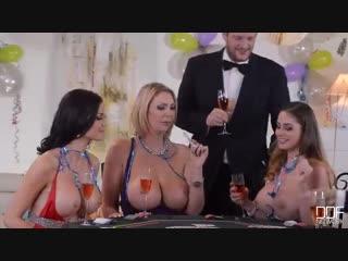 Cathy Heaven, Jasmine Jae  Leigh Darby (Брюнетка, сосет, большие сиськи, миньет, анал, жопа, порно, секс)