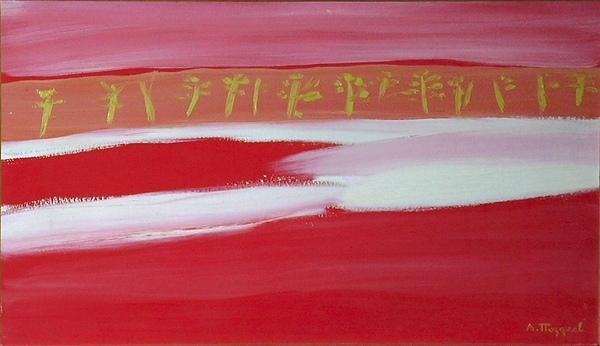«Красная весна», 1980-е. Картон, масло, 50х80