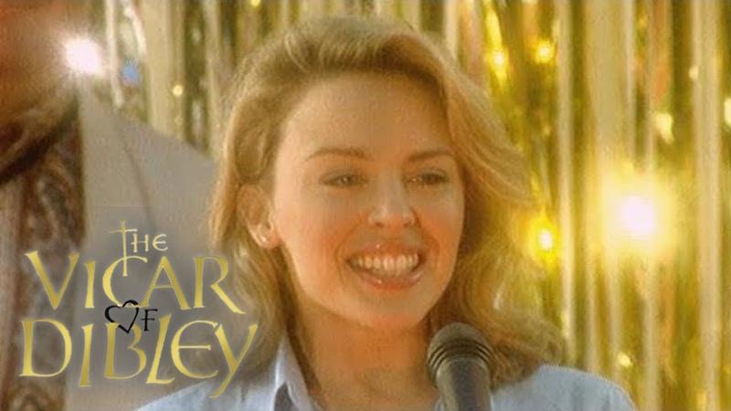Kylie Minogue Comes to Surprise Elton John Community Spirit The Vicar of Dibley