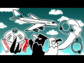 Навальный летит домой! (АНИМАЦИЯ)