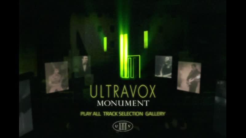Ultravox Monument DVD Menu.