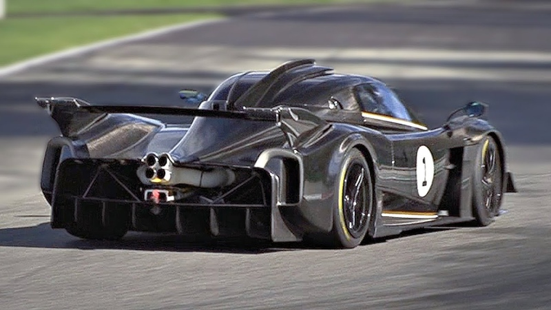 NEW Pagani Huayra R first track test at Monza Circuit Feat PURE 9000rpm NA V12 Engine Sounds