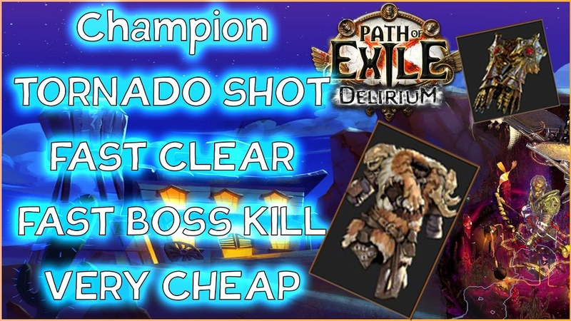 Билд Вихрь стрел Build Tornado Shot Delirium Path Of Exile PoE 3 10 Делириум Чемпион