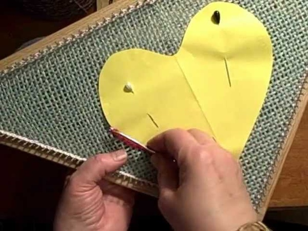 How to work chain stitch embroidery tambour crochet on small loom weaving by Noreen Crone Findlay