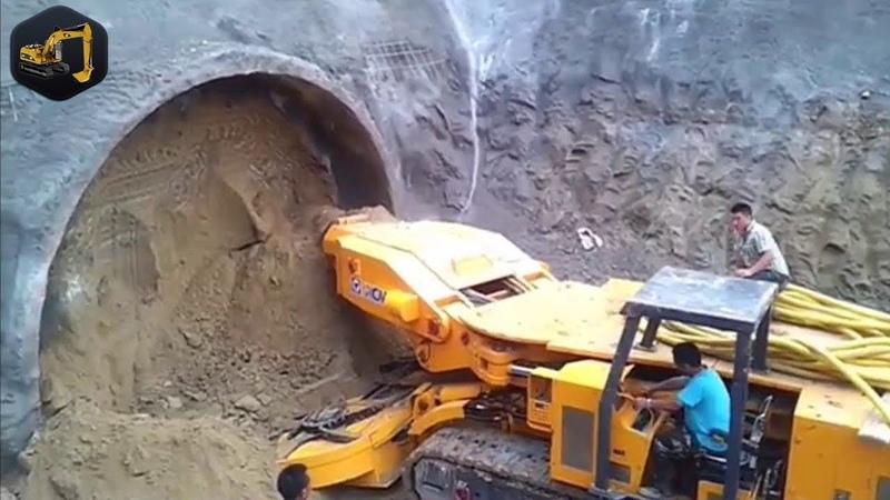 Mega Maquinas Perforadoras Haciendo Tuneles Ultima Tecnologia