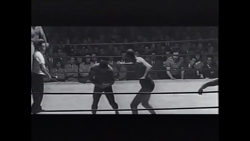 1963.03.27 - Rikidozan/Toyonobori/Giant Baba vs. Killer Kowalski/Killer X/Gino Marella [CLIPPED, MUSIC DUBBED OVER]