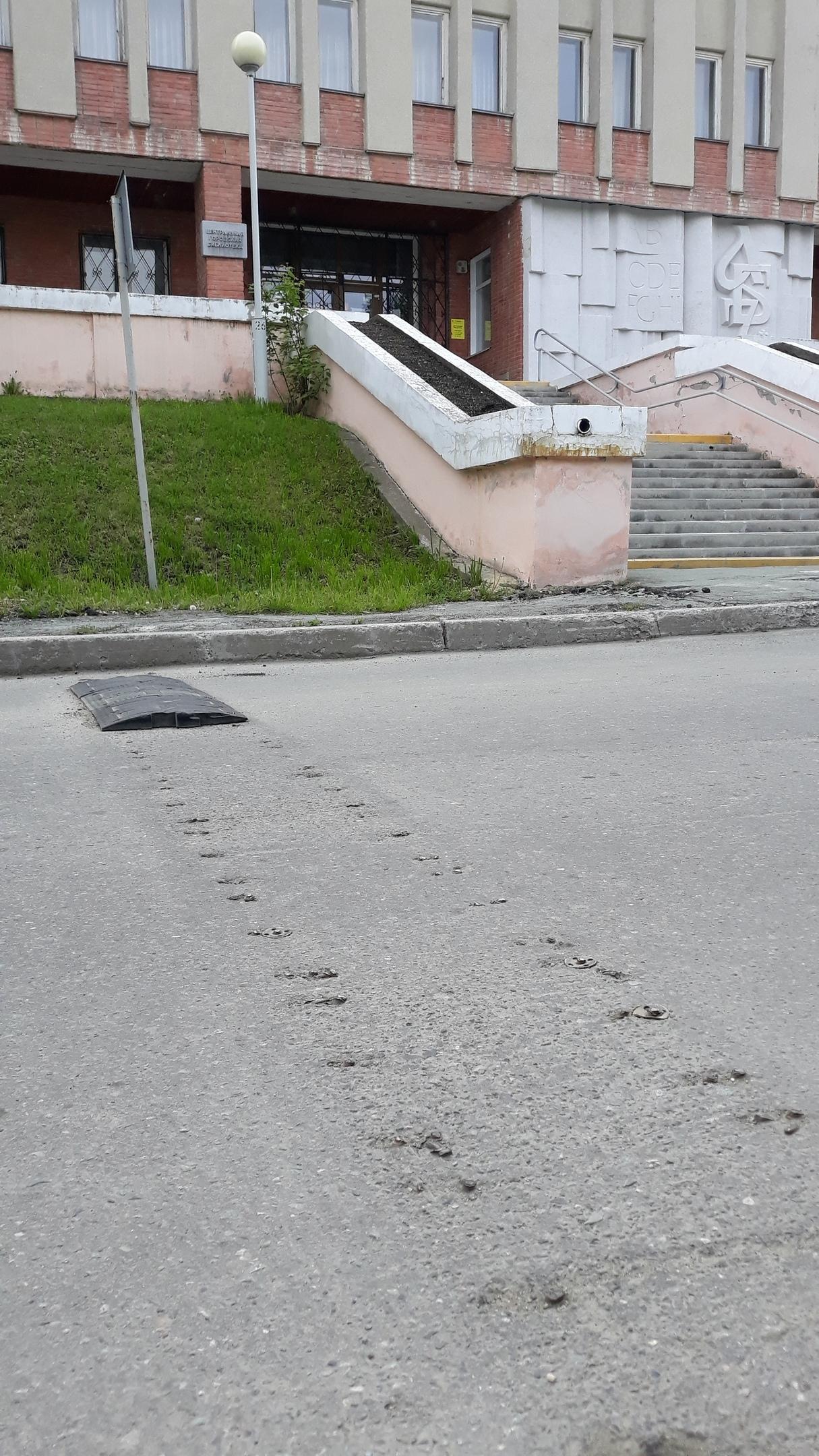 На дороге по Фрунзе заменили «лежачих полицейских»