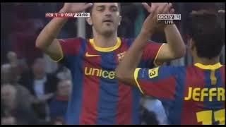 Season 2010/2011. FC Barcelona - CA Osasuna - 2:0 (highlights)