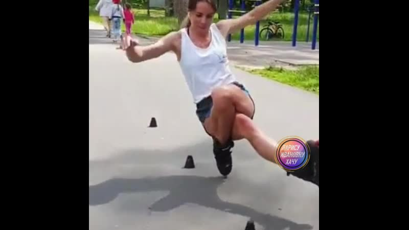 балерина на роликах