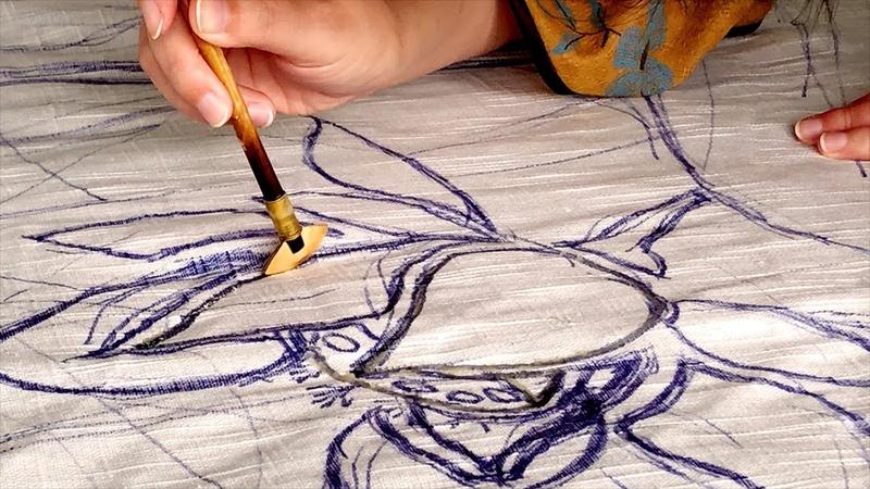 4K How To DIY The Handmade Wax Batik Chinese Lifestyle 02
