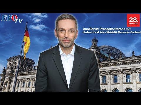 Pressekonferenz aus Berlin mit Herbert Kickl und der AfD