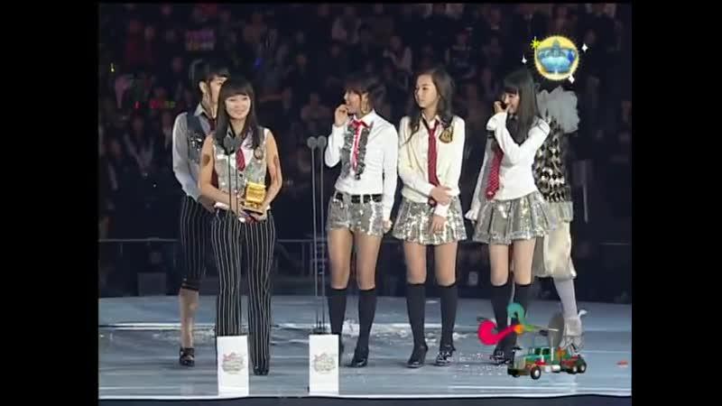 Wonder Girls win Best Rookie Award @ MKMF 2007 071117