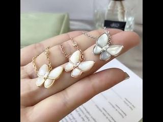 Ожерелье из стерлингового серебра 925 пробы с бабочкой белой раковины для мамы, модное японское