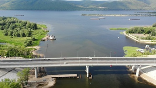 ОТКРЫЛИ МОСТ !!! УРА !!! В 9:00, 16 июля 2021 г. Спасибо строителям ! / авт. мост через реку Сок