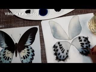 Мастер-класс Бабочка из мелтона (Часть 1 - тонировка)