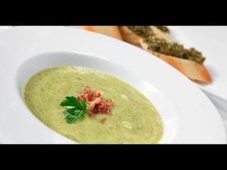 Зелёный суп и бутерброды с паштетом из мидий | Дежурный по кухне