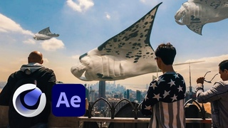 Floating Sea Animals in Cinema 4D & After Effects