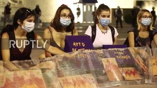 Greece: Antifa hold solidarity march for Moria in Athens