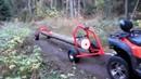 Прицеп Лесовоз IB PRO 500 для квадроцикла , мини прицеп для перевозки и погрузки бревен!