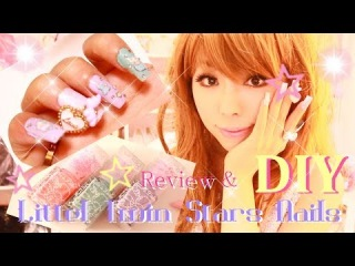 Little Twin Stars Kiki Lala Nails Polish Review DIY with recycling idea