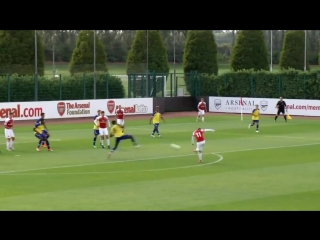 The corner the touch the finish  sam greenwood scored the winner as afcu18 beat southampton 1-0 on saturday