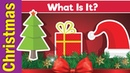 Learn Christmas Vocabulary What Is It English Pattern Practice for ESL Fun Kids English