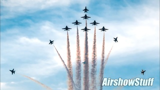 Blue Angels, Thunderbirds, and more! Salute to America (4th of July) Warbird/Military Flyovers