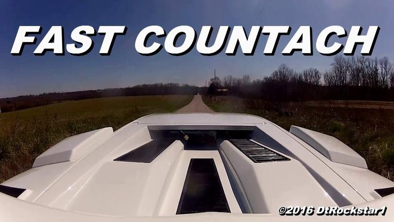Lamborghini Countach Wide Open Throttle Accelerations