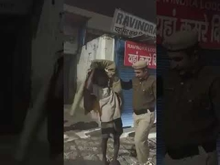 #Shorts Police Officer give his Jacket and Shoes to a homeless man, Shivering from cold.