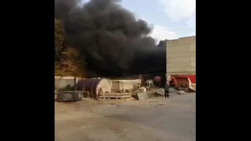 Пожар на складе с полимерами Батайск