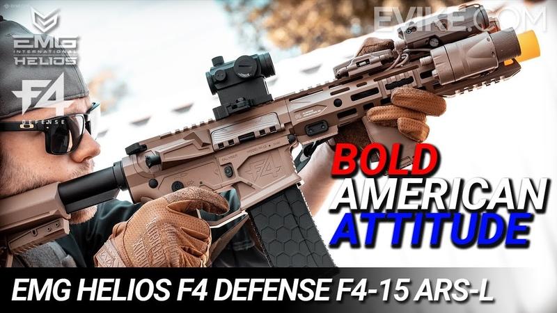Bold American Attitude - EMG Helios F4-Defense F4-15 ARS-L AEG - Airsoft Review