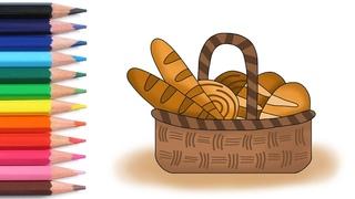 Алфавит для детей учим буквы весело мультики раскраска как нарисовать хлеб азбука простые слова