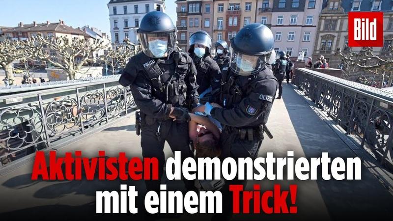 Polizei löst Demo mit mehr als 200 Menschen am Frankfurter Mainufer auf
