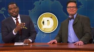 Илон Маск говорит о DogeCoin на SNL!