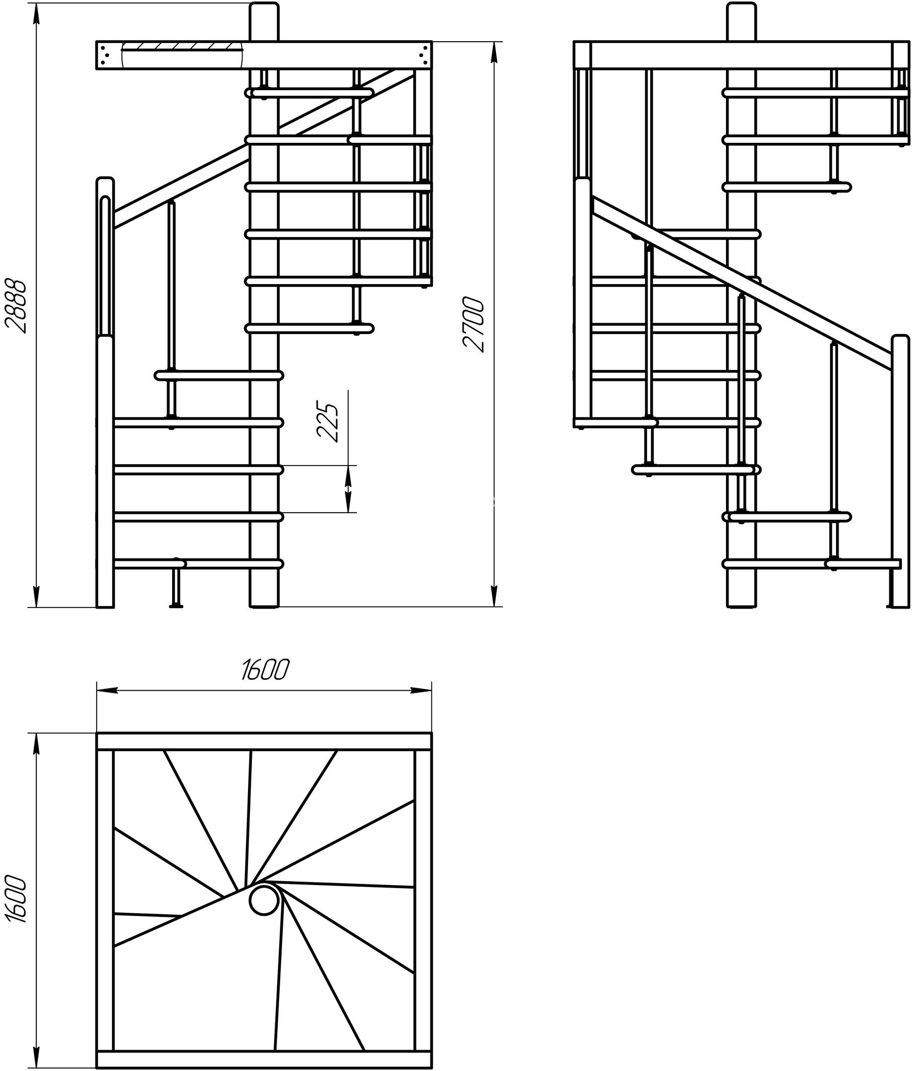 чертеж винтовой лестницы новосибирск авантстрой