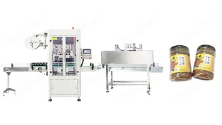 Sauce Glass Jar Automatic Shrink Sleeve Labeling Machine with Electrical Heating Oven