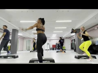 Степ с раскладкой / Степ аэробика целая тренировка / step aerobics
