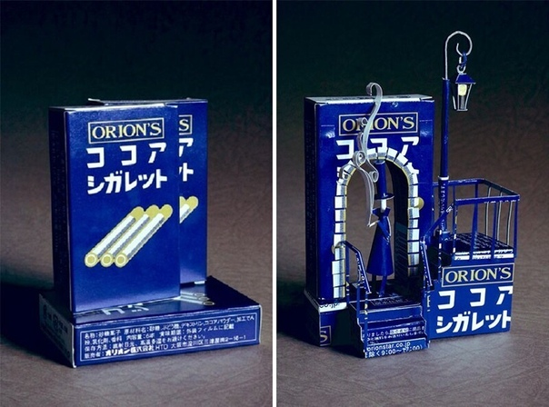 Японский художник Харукиру (Haruiru переделывает упаковку из использованных продуктов, которая рисковала оказаться в мусорке, в маленькие произведения искусства. Кажется, что это фотошоп, но это