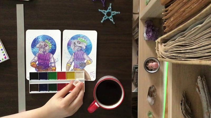 Детская акварель Спектр Лама VS Daniel Smith акварельный влог 01